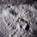 Првиот отпечаток од човечко стапало на Месечината.