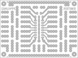 Дизајнот на ППКУни2 (поглед од горе) како основа за цртање монтажни шеми