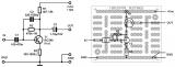 Пример за монтажна шема на ППКУни1 - транзисторски предзасилувач