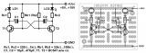Пример за монтажна шема на ППКУни1 - трепкач со транзистори