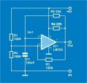 Основна електрична шема на астабилен мултивибратор со ОЗ со единечно напојување