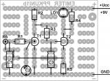 Монтажна шема на трепкачот пријатен за око на универзална плочка Емитер ППКУни1b