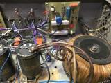 Засилувачот изработен од г. Петковски.Искористен е торусен трансформатор од 300W