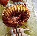 Изглед на намотки мотани со жица 0,4 mm