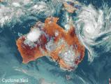 Сателитска фотографија од циклон во близина на Австралија