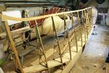 Дрвена конструкција на двоседна едрилица