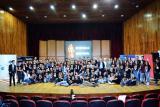 Сите учесници во финалето на Робомак 2019. Фотографијата е преземена од ФЕИТ – Скопје