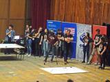 Дел од натпреварувачката атмосфера на финалето на Робомак 2019