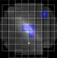Заднинската слика го прикажува објектот M31 онака како што го регистрираат 104-те CCD чипов во камерата на телескопот Субару на Хаваите
