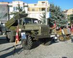 Дел од артилериските орудија употребени на вежбата