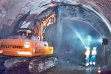 Тунелот Мон Блан во изградба.