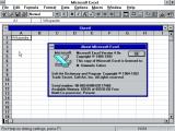 Изглед на работното опкружување во MS Excel 4.0