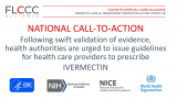 Алијансата FLCCC ги повикува здравствените власти на итна акција за брзо изготвување упатства и водичи до сите лекари за препишување ивермектин.