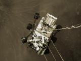 Фотографија од роверот на пат кон површината на Марс