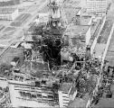 Снимка направена непосредно по експлозијата во нуклеарната централа во Чернобил