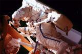 Линенгер и Цибелјев за време на историската вселенска прошетка