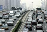 Река од автомобили во време на шпицот, во Пекинг