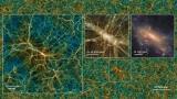 Дистрибуција на темната материја во еден 'исечок' од Учуу.